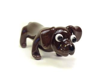 Dachshund Sculpture - Pocket Puppy - Glass Dog
