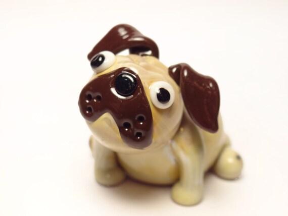 Glass Fawn Pug - Sculpture Number 19