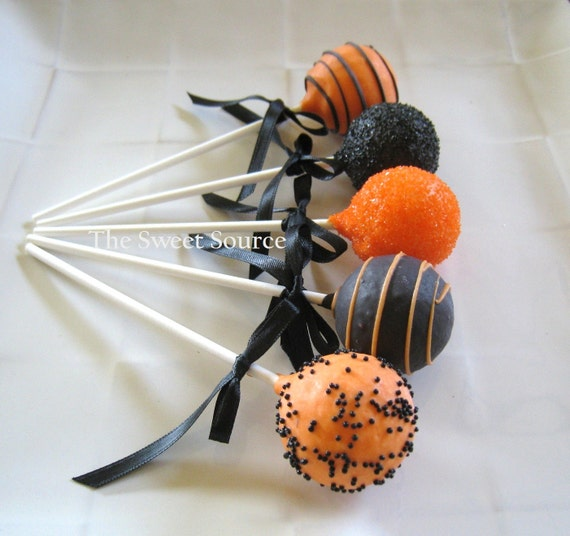 Decorating Cake Pops Easy : Items similar to Cake Pops: Halloween Cake Pops Made to ...