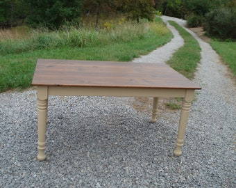 Farmhouse Dining Table, Kitchen Table, Rustic Farm Table