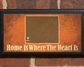 Home Is Where The Heart Is v2 - Customizable Wyoming Vintage Style Plaque/Sign Decorative & Custom