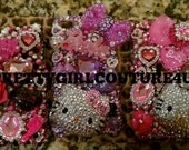 Custom SUPER KAWAII case DEPOSIT. Bling, Hello Kitty, Barbie Iphone, Evo, Blackberry, Htc  made with swarovski crystals