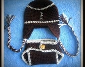 Crochet Baby Boy Football Diaper Cover And Hat Set Pattern Not A Finished Product