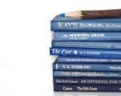 Front Page Featured-Vintage Back To School  Book Stack Interior Design Blue Decor 9 Book Vintage Collection