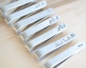 Mens Tie bar  industrial inspired silver accessories - heirloom personalized gifts for the grooms and groomsmen