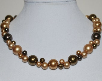 SOLD OUT, Bridal Necklace, Swarovski Pearl Necklace, Bridal Jewelry, Multi-color Pearl Necklace