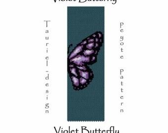 Peyote pattern pdf- violet butterfly
