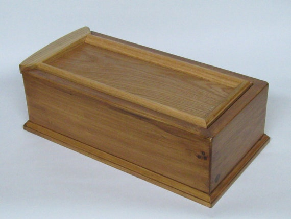 Reserved For Kathleen Hanson Large Wooden Box From Pine and Oak