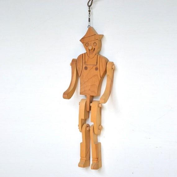 vintage wooden dancing jig doll puppet man toy clown, sailor or farmer- you decide   offered by Elizabeth Rosen