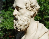 Vintage Hippocrates Chalkware Bust...Large Statue