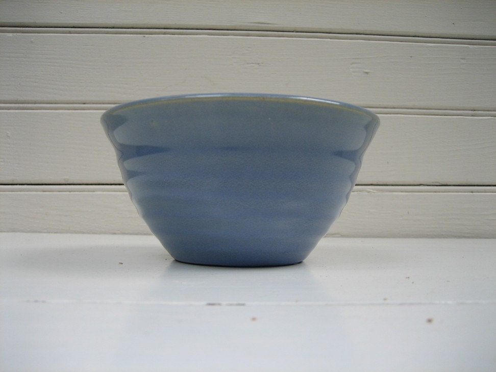 Vintage Bauer Pottery Blue Ring Ware By Bighouselittlehouse