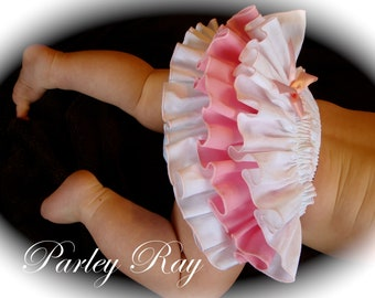 A Beautiful Parley Ray Custom Boutique Ruffled Baby Bloomers/ Diaper Cover / Photo Props
