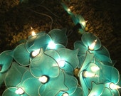 Blue Colors Nylon Flower Wedding/Party String Lights 20 Lanterns