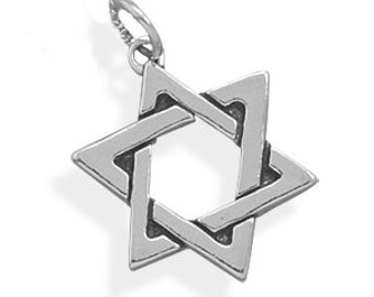 Star of David Judaica Charm or Pendant - 925 Sterling Silver