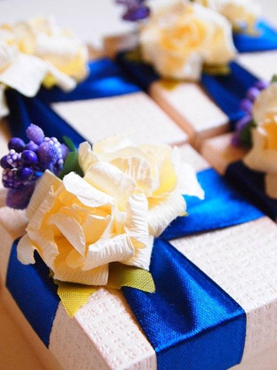 Wedding Favors Navy Blue Ivory Purple Gold Bridal By Cutepp