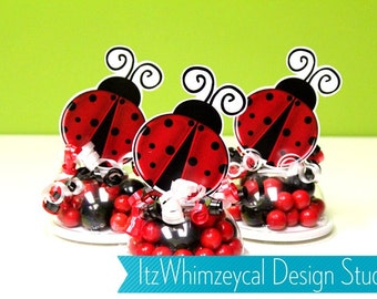 Ladybug Birthday Party | Lady Bug | Ladybug Party | Candy Container | Party Favor Boxes | Kids Favors | Gifts | Centerpieces | Candy Buffet