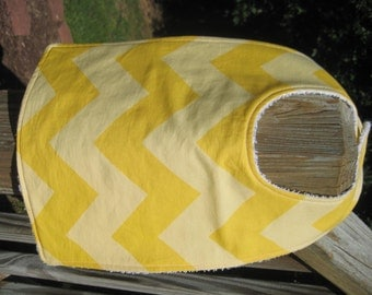 Baby Bib - Yellow Chevron