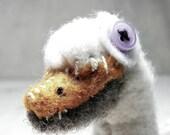 White Swan plush - felted wool