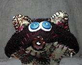 Burgandy Fox plush - felted wool