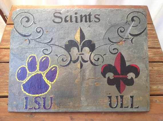 Saints Lsu And Ull Wall Art On New Orleans By