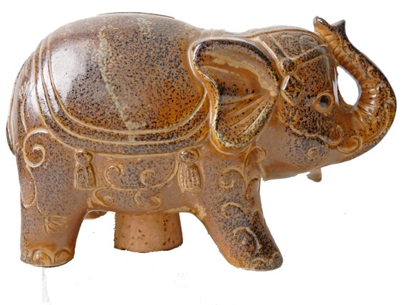 Lucky ceramic indian elephant piggy bank in by jeezumcrowvintage - Ceramic elephant piggy bank ...