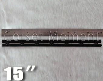 "Black Corset Busks,Corset Fasteners,1"" Wide,15"" Long,Five Hooks,Corset Making Supplies"
