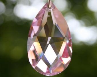 Swarovski Crystal Suncatcher- Pink Teardrop