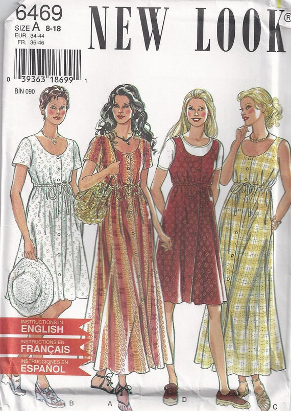 New Look 6469 Sewing Pattern Size 8 Size 10 Size 12 Size 14 Size 16 Or Size 18 Classic Dress