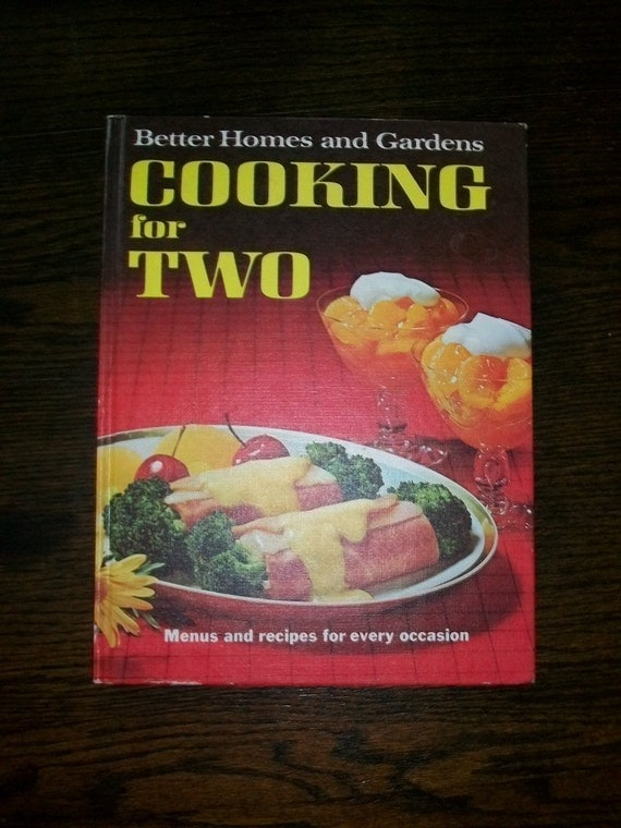 Vintage 60s Cookbook Better Homes And Gardens Cooking For Two HC