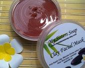 French Rose Kaolin  Clay Facial Mask with Raw Organic Manuka Honey and Vitamin E