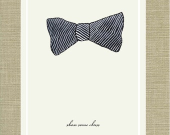 Show Some Class - Sartorial Humor Quote Art Print 11 x 14