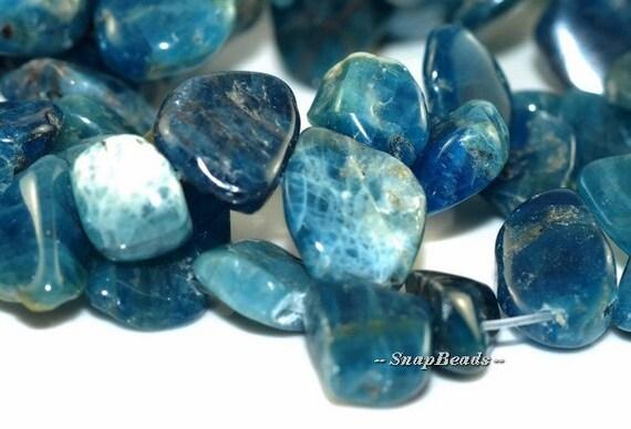 Connoisseur Apatite Gemstones Pebble Slice 13X10MM Loose Beads 7.5 inch Half Strand (90108555-106)