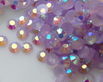 3 mm light Purple Resin AB Rhinestones / Round Jelly Rhinestones (.mmtn)