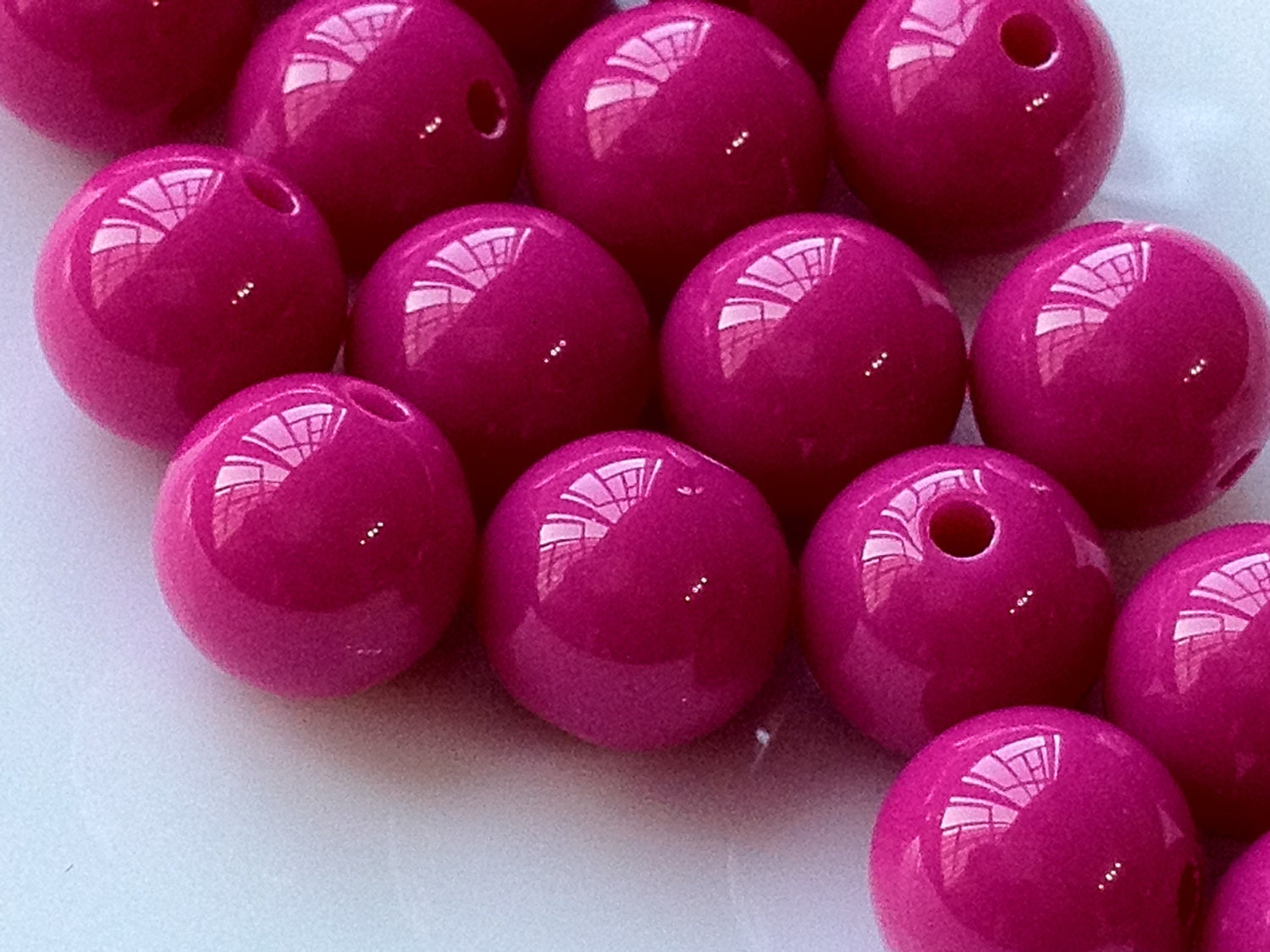 12 mm opaque hot pink color round shape candy acrylic beads. Black Bedroom Furniture Sets. Home Design Ideas