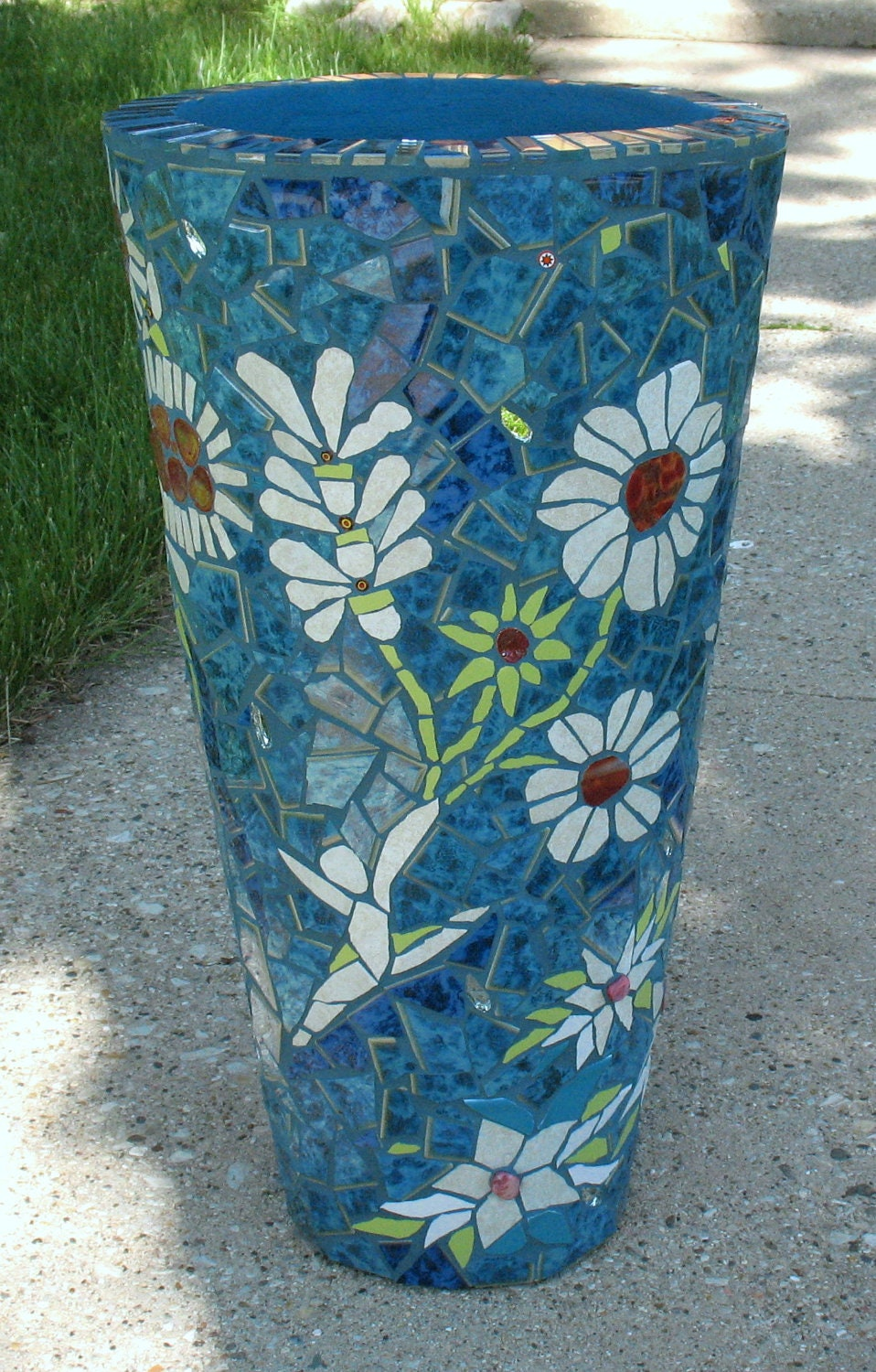 Dancing Flowers Mosaic Flower Pot Mosaic By Mosaicrenaissance