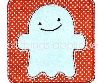 Halloween Applique Design - Friendly Ghost Applique Design - 3 Sizes - INSTANT DOWNLOAD