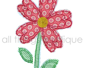 Valentine Applique Design - Heart Flower Raggy and Satin Finish- Machine Embroidery Applique Design - INSTANT DOWNLOAD