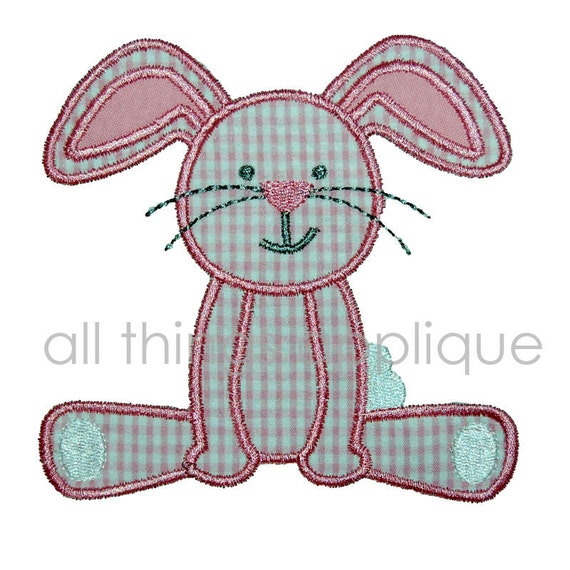 Items similar to easter applique design bunny