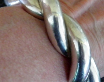 Heavy Sterling Silver Bangle Bracelet, 925 40 grams