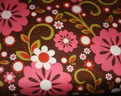 CLEARANCE - Riley Blake Fabric -1 Yard of  Indian Summer Main in Brown