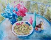 Fig Harvest original Watercolor Art Print
