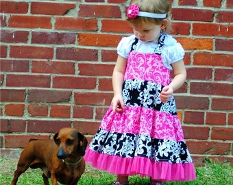 Toddler Dress Pattern, INSTANT DOWNLOAD, Pdf Sewing Pattern, Dress Pattern Girl, Girl's Tiered Dress ( pdf pattern )