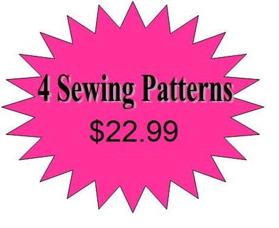 4 Pdf Sewing Patterns for Girls Dresses and Skirts-  Toddler Sewing Pattern, Baby Sewing Pattern, Any 4 Patterns in my Shop for 22.99