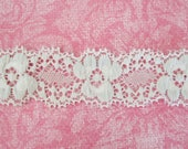 White Stretch Lace. Stretch Trim. 2 Yards