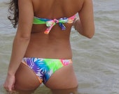 Neon Rainbow Low Cut Bikini Bottoms