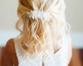 The Wood Anemone: Flower Girl Hair clip in in ivory and white