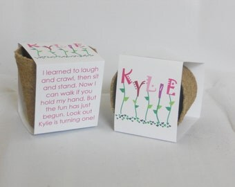Party Favor Plantable Biodegradable Seed Cups With Soil and Seeds