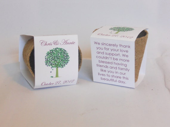 Party Favor Plantable Seed Cups With Soil and Seed