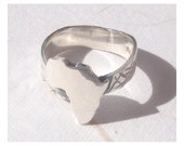 Textured Africa Ring - Sterling Silver (925)