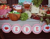 Oversized Rosette Banner. Farmer's Market Collection.